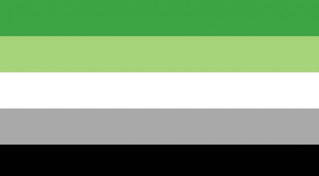 bandiera aromantico, bandiera lgbtq