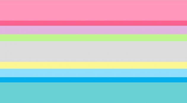 bandiera genderquestioning, bandiera lgbtq